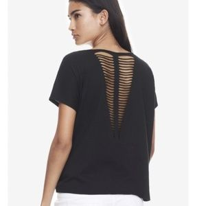 Express One Eleven | Slash Back V-neck Tee XS